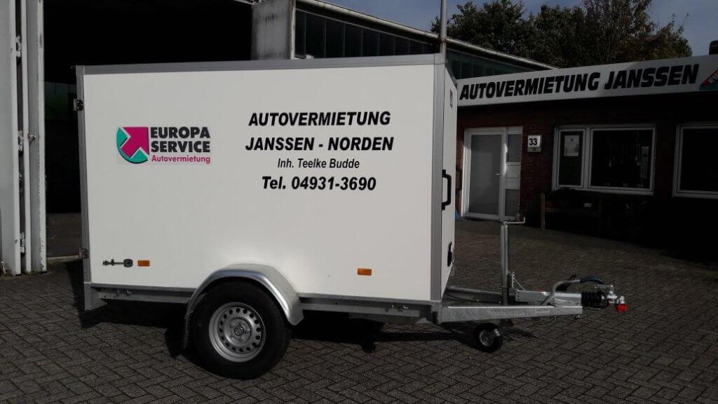 Anhänger Verleih Autovermietung Janssen Norden